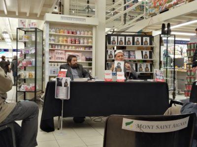 Rencontre entre Marek Halter et Hassen Chalghoumi à la librairie Colbert de Mont-Saint-Aignan