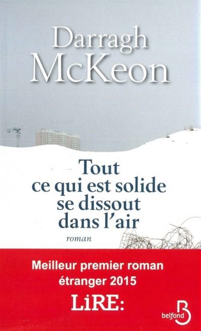 Critique – Tout ce qui est solide se dissout dans l'air– Darragh McKeon – Belfond