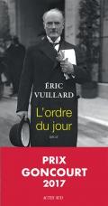 Critique – L'ordre du jour – Eric Vuillard – Actes Sud