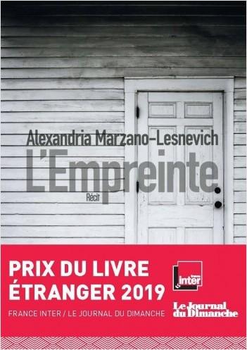 Critique – L'empreinte – Alexandria Marzano-Lesnevich – Sonatine